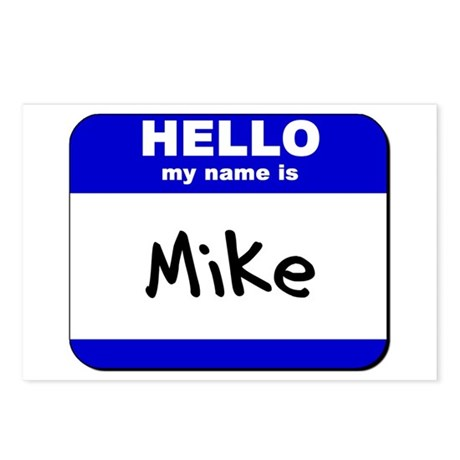 hello my name is mike Postcards (Package of 8)
