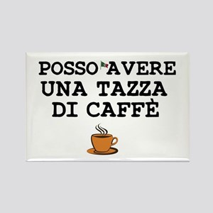 CUP OF COFFEE PLEASE - ITALIAN Rectangle Magnet