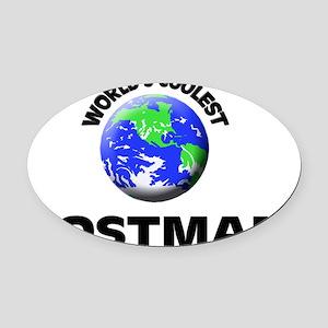 World's Coolest Postman Oval Car Magnet