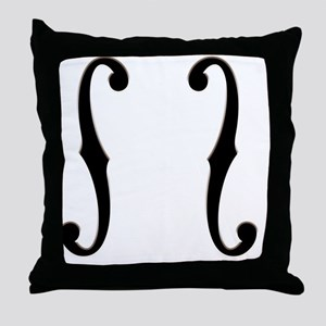 f-hole-713-CRD2 Throw Pillow