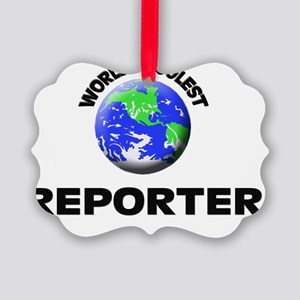 World's Coolest Reporter Picture Ornament