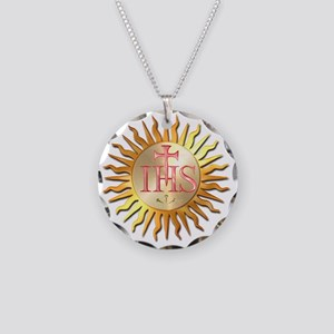 Jesuits Seal Necklace Circle Charm