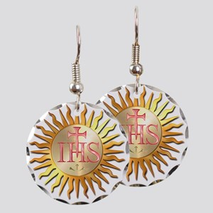 Jesuits Seal Earring Circle Charm