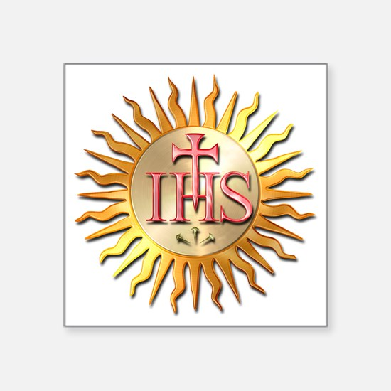 "Jesuits Seal Square Sticker 3"" x 3"""