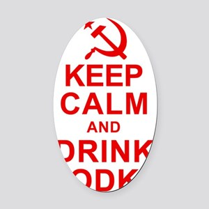 Keep Calm and Drink Vodka Oval Car Magnet