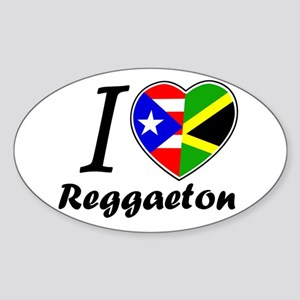 i love reggaeton Oval Sticker