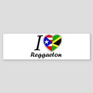 i love reggaeton Bumper Sticker