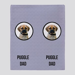Puggle Dad Throw Blanket