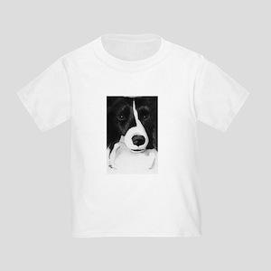Black & White Border Collie Toddler T-Shirt