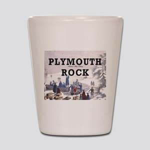 plymouthrock1 Shot Glass