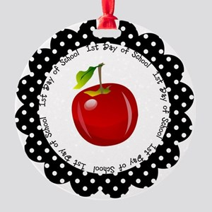 First Day of School Round Ornament