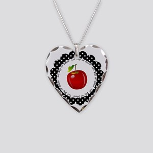 First Day of School Necklace Heart Charm