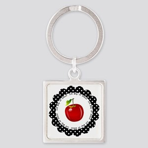 First Day of School Square Keychain