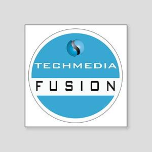 """Techmedia Fusion Logo Square Sticker 3"""" x 3"""""""