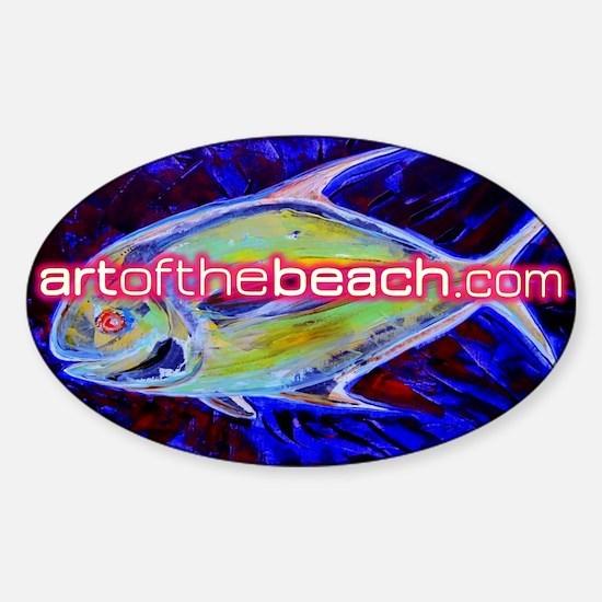 artofthebeach Sticker (Oval)