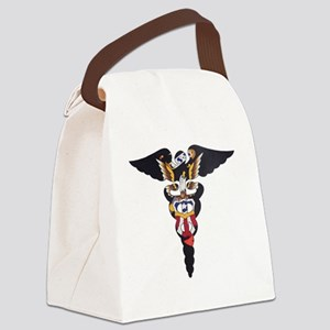 Navy Caduceus Eagle Canvas Lunch Bag