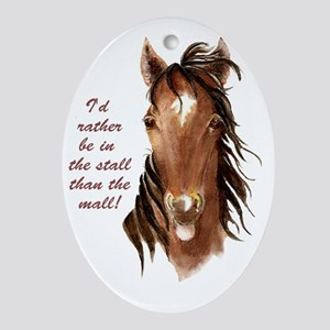 horsemall Oval Ornament