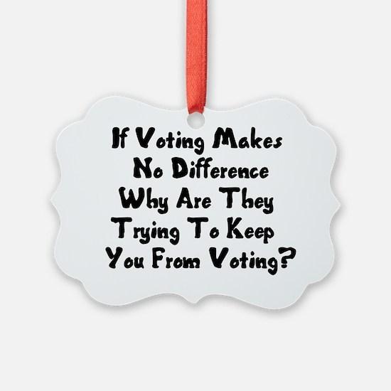 GOP War On Voting Ornament