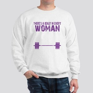 A BEAST IN EVERY WOMAN - PURPLE Sweatshirt