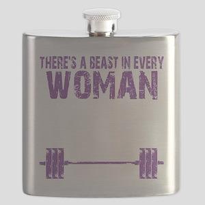 A BEAST IN EVERY WOMAN - PURPLE Flask
