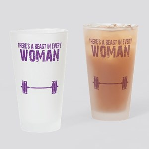 A BEAST IN EVERY WOMAN - PURPLE Drinking Glass