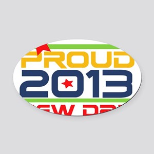 2013 Proud New Dad Oval Car Magnet