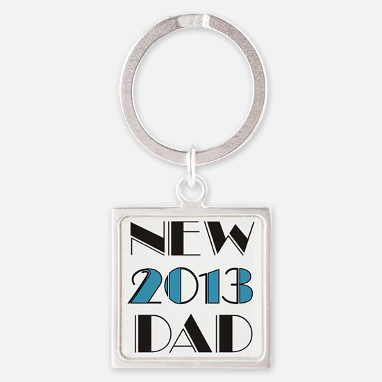 2013 New Dad Square Keychain