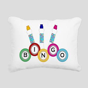 BINGO WITH MARKERS- Rectangular Canvas Pillow