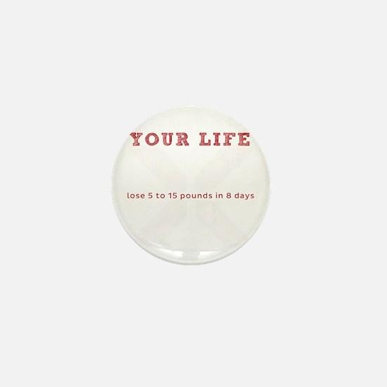 White X - Transform Your Life Mini Button