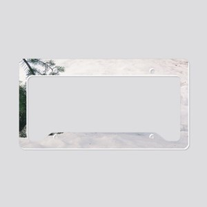 """Wolf  Dog  Cub"" License Plate Holder"