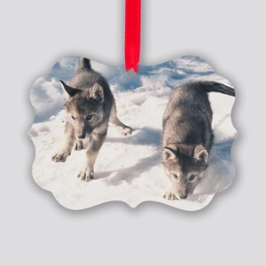 """""""Two  Cubs"""" Picture Ornament"""