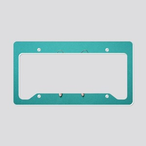 """Silver  And  Turquoise"" License Plate Holder"