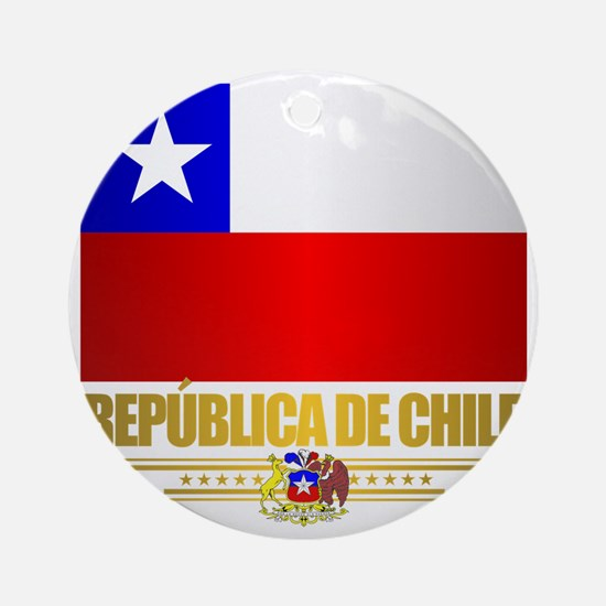 Flag of Chile Round Ornament