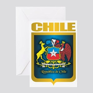 Chile Gold Greeting Card
