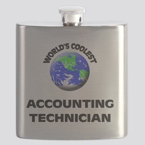 World's Coolest Accounting Technician Flask