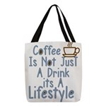 Coffee Lifestyle Polyester Tote Bag