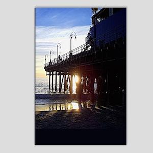 PtP Santa Monica Pier sun Postcards (Package of 8)