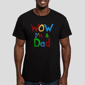 WOW Im a Dad Men's Fitted T-Shirt (dark)