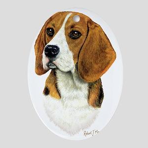 Beagle Head 1 Oval Ornament
