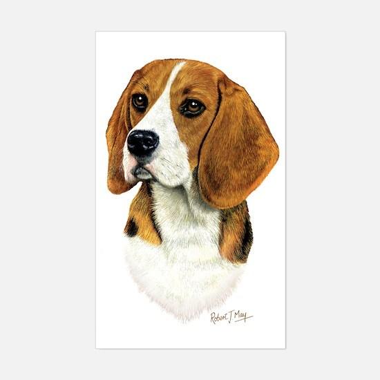 Beagle Head 1 Sticker (Rectangle)
