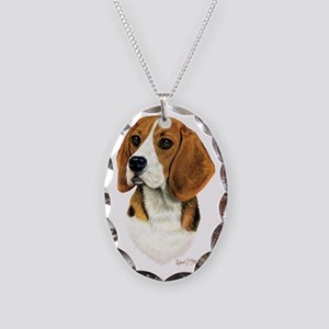 Beagle Head 1 Necklace Oval Charm