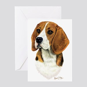 Beagle Head 1 Greeting Card