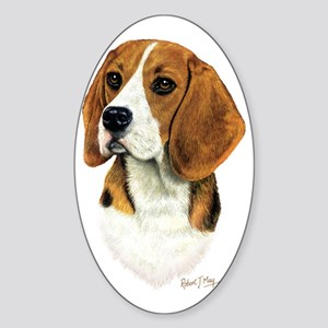 Beagle Head 1 Sticker (Oval)