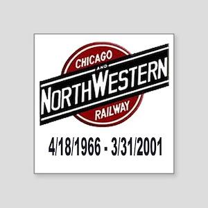 "logoCNWRailway Square Sticker 3"" x 3"""