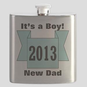2013 New Dad of Boy Flask