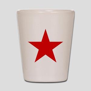 Red Star Shot Glass