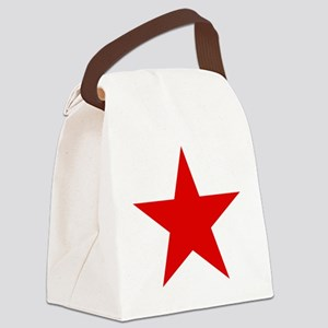 Red Star Canvas Lunch Bag