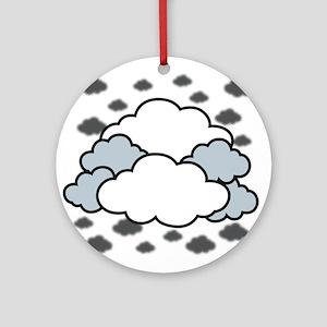 Clouds Round Ornament
