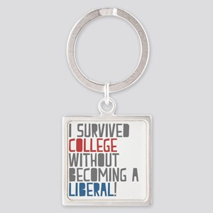 Isurvived Square Keychain
