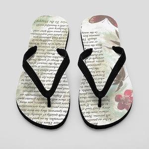 2f912486151f9 Bamboo Butterflies Desiderata Poem Flip Flops